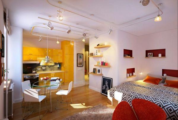 Kleine Wohnung einrichten - Tipps für eine gemütliche Wohnatmosphäre - hochbetten erwachsene kleine wohnung