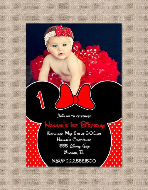 minnie mouse birthday party invitation red minnie mouse, invitation samples
