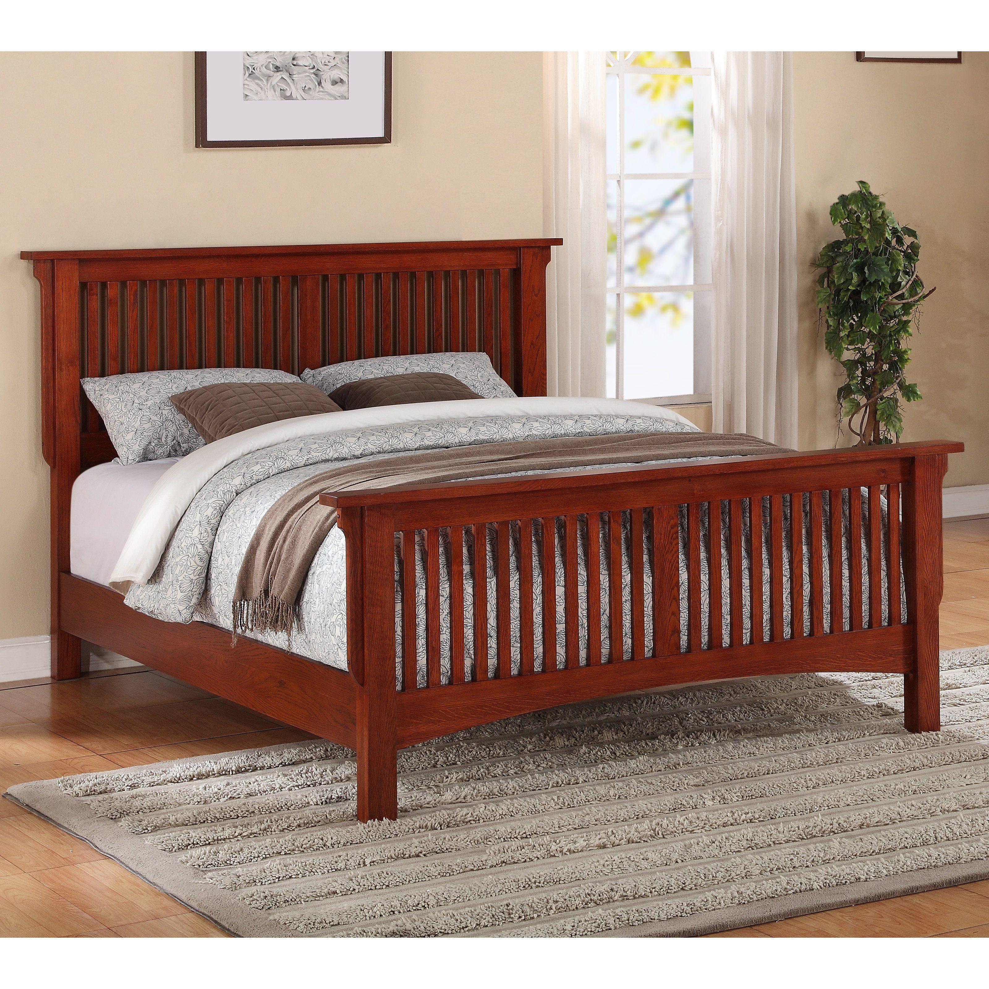 Mission Slat Panel Bed Oak Bed