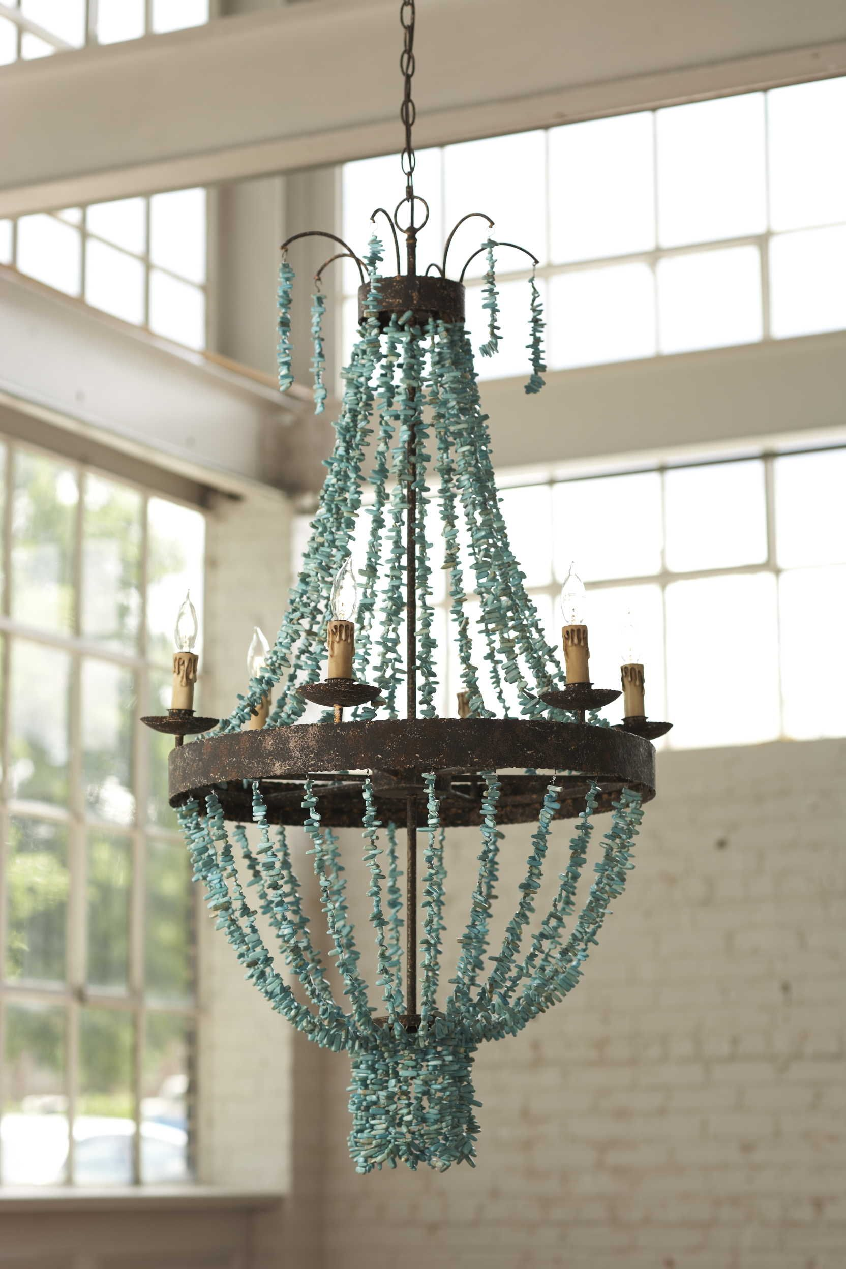 Regina Andrew s turquoise chandelier yes of course I want it