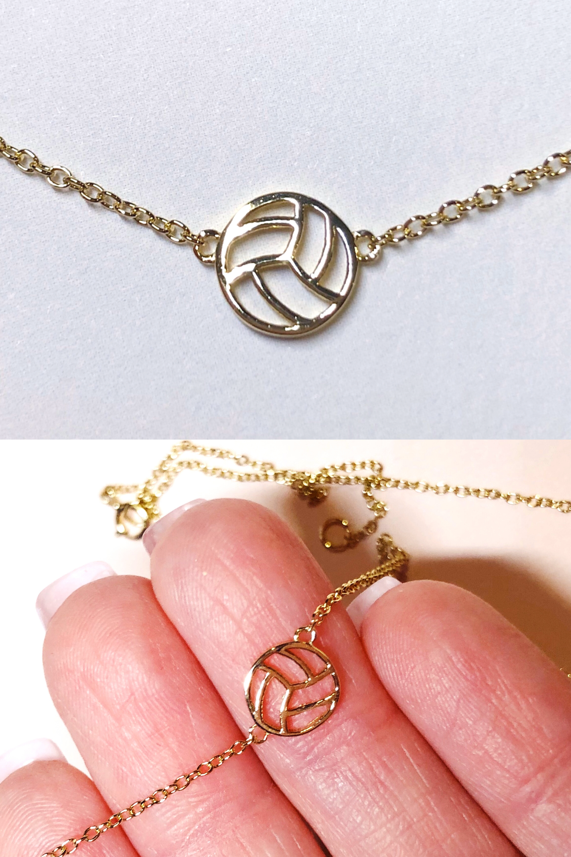 Dainty Volleyball Necklace In 2020 Feminine Jewelry Volleyball Jewelry Cute Jewelry
