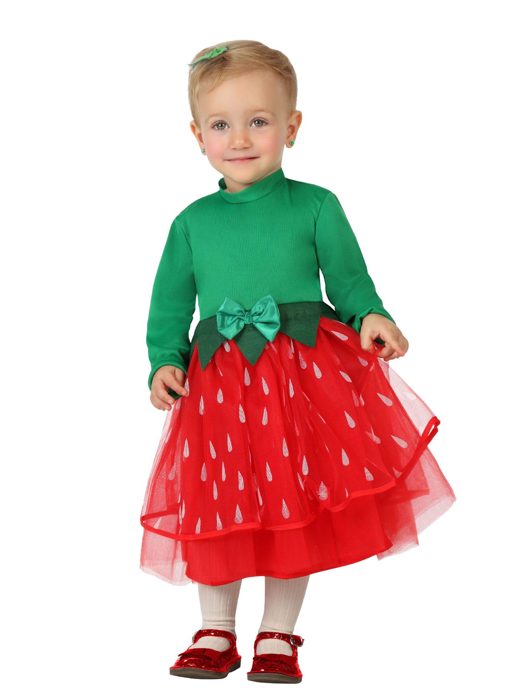 9347477da62f Costume fragola bambina: Questo costume da fragola rosso e verde per bambina  (cerchietto,
