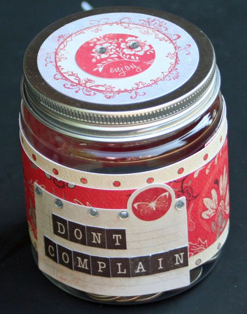 Project Wednesday Complaint Jars Scrapbook Express Ions Jar Kids Coffee Cans