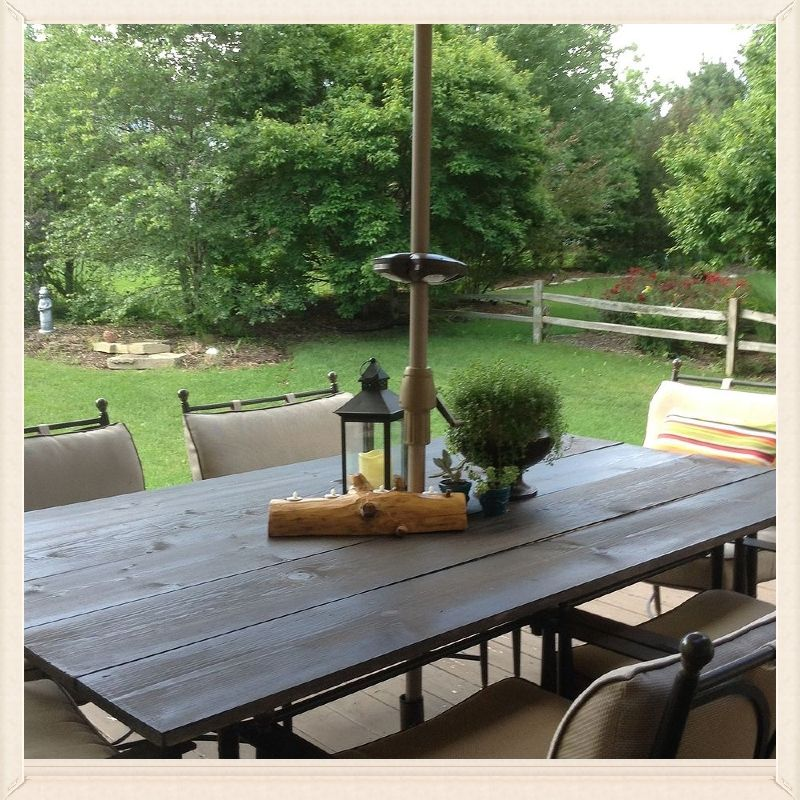 DIY Rustic Patio Table Top Rustic patio Patio table and Patios