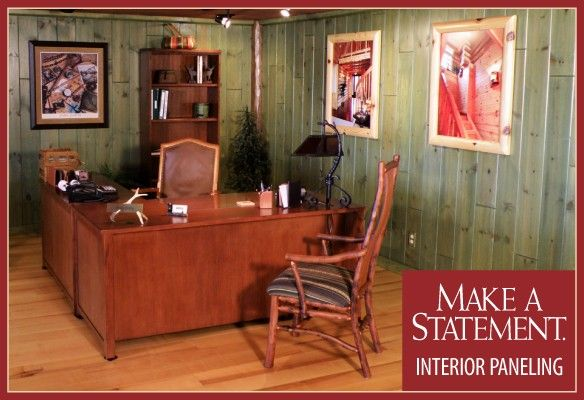 Color Washed Wood Paneling