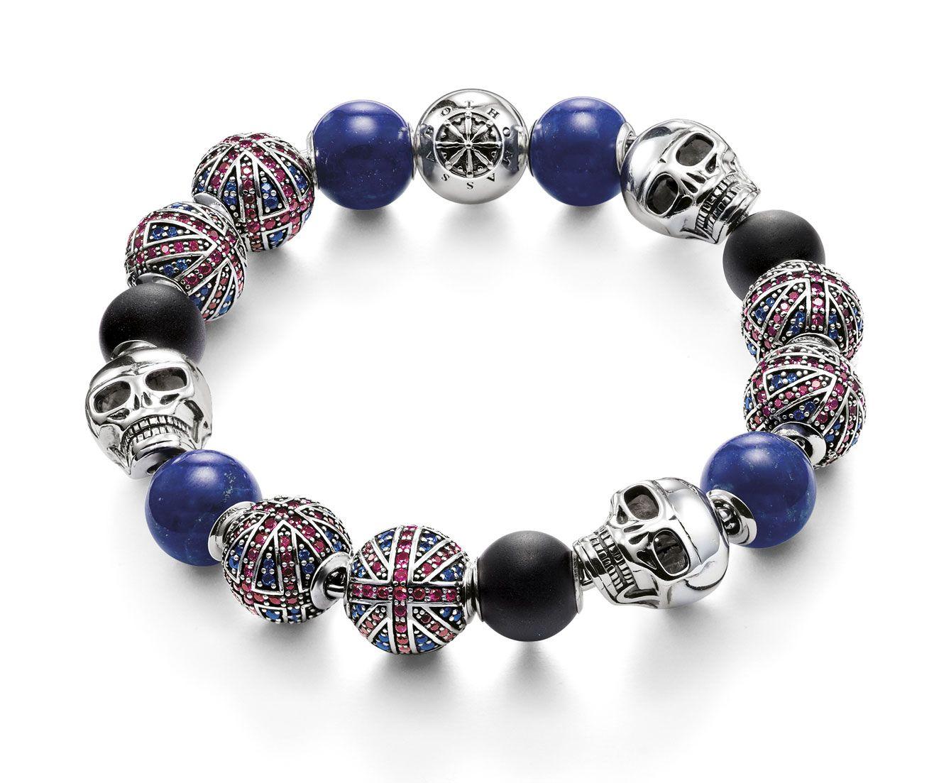 Cool Punk Attitude: Skulls Plus Union Jack The Karma Beads – Crafted From  Black · Mens Jewellerythomas Sabounion