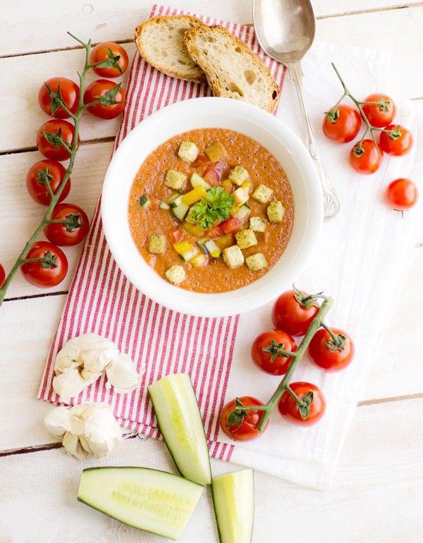 Heute bleibt die Küche kalt leckere, leichte und sommerliche Gazpacho