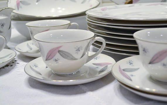 Vintage Serenade by Narumi Dinnerware Set 45 pcs Pastel Pink & Vintage Serenade by Narumi Dinnerware Set 45 pcs Pastel Pink Gray ...