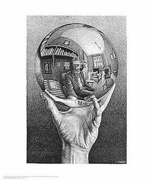 Hand with Globe.One of my faves from MC Escher