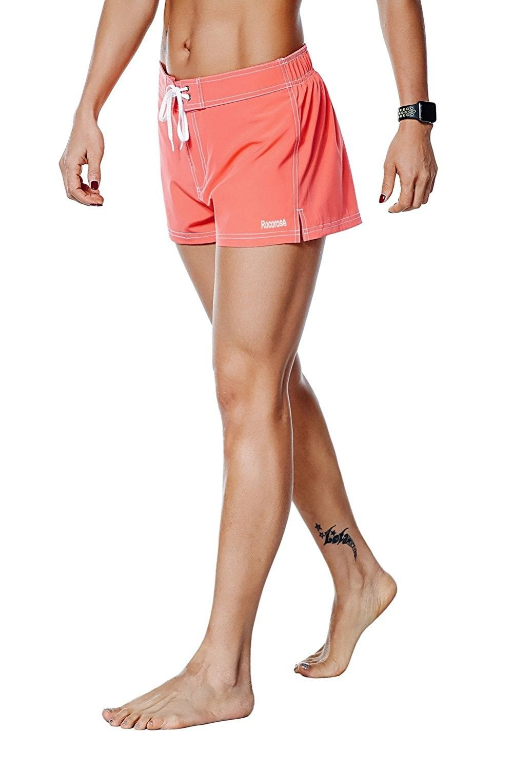 Rocorose Womens Boardshorts Water Sports Quick Dry with Back Pocket