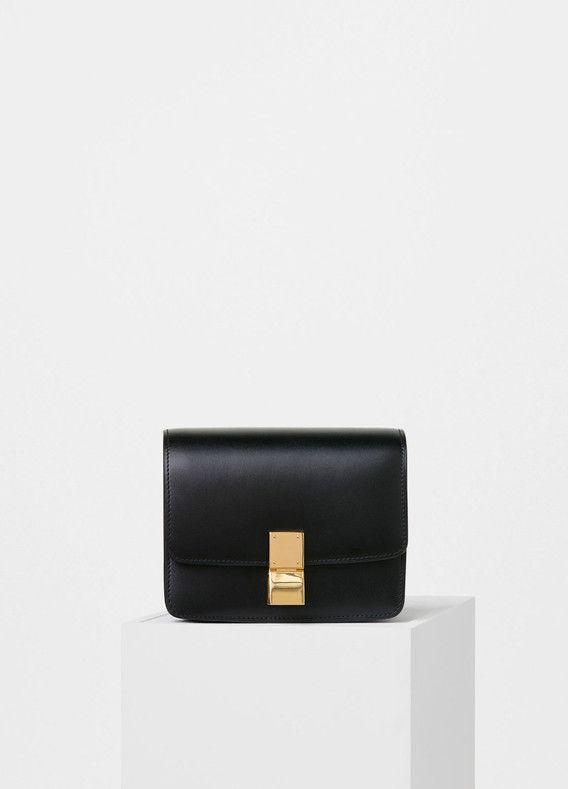 72bbc58c8 Small Classic Bag in Black Box Calfskin - Céline | WISHLUST | Celine ...