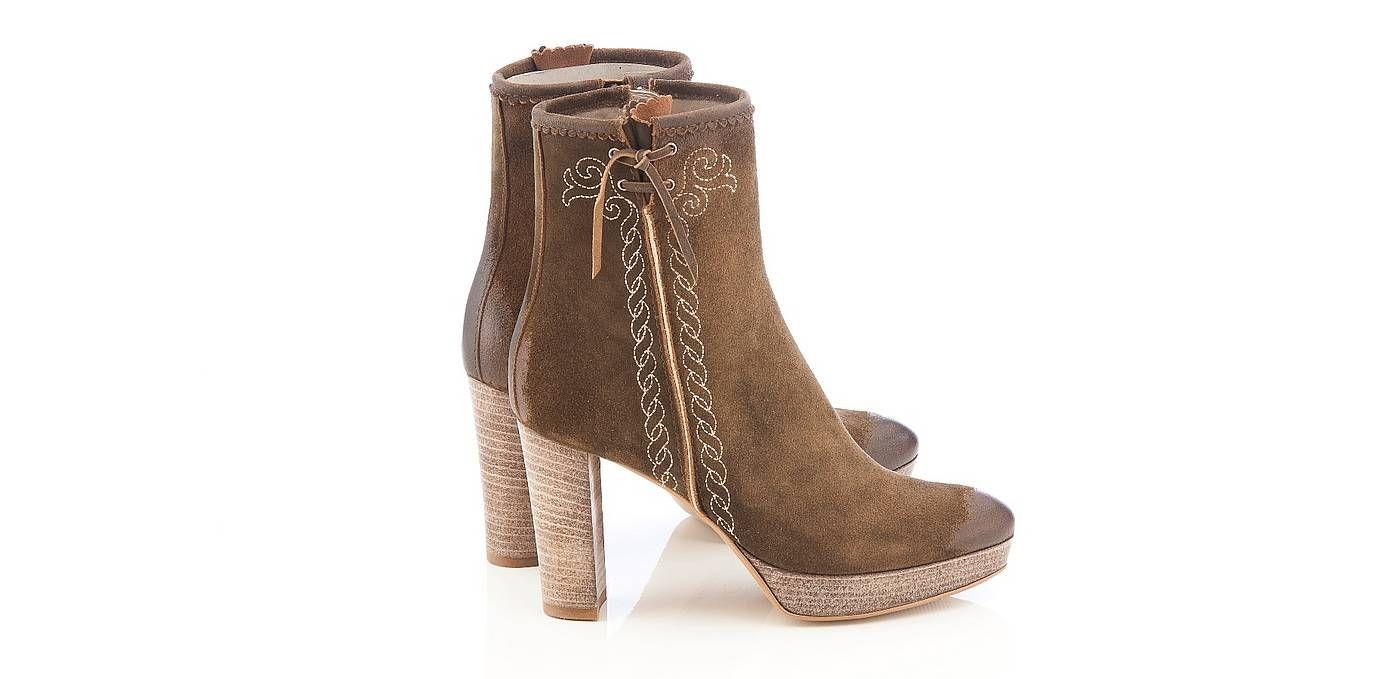TAMARIS @ STIEFEL @ Dirndl Schuhe @ Trachtenstiefel Boots