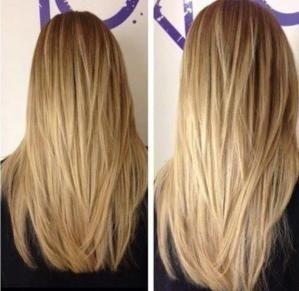 Platinblonde haare lang