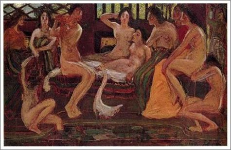 青木繁 『天平時代』ブリヂストン美術館 | 青木繁 | 美術館、靉光、美術