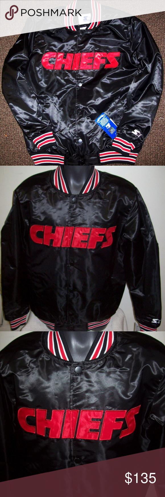 Kansas City Chiefs Starter Snap Down Jacket 3x Down Jacket Satin Jackets Kansas City Chiefs [ 1740 x 580 Pixel ]