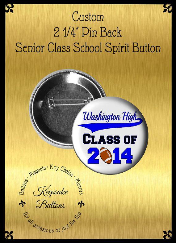 2.25 Custom Class of 2014 Buttons Senior Class by KeepsakeButtons