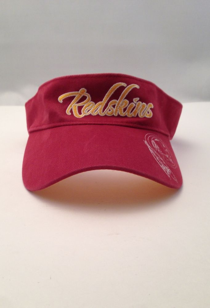 Washington Redskins NFL Reebok Sideline Sun Visor Golf Hat Cap White One  Size  Reebok  WashingtonRedskins 1a225f1c39a