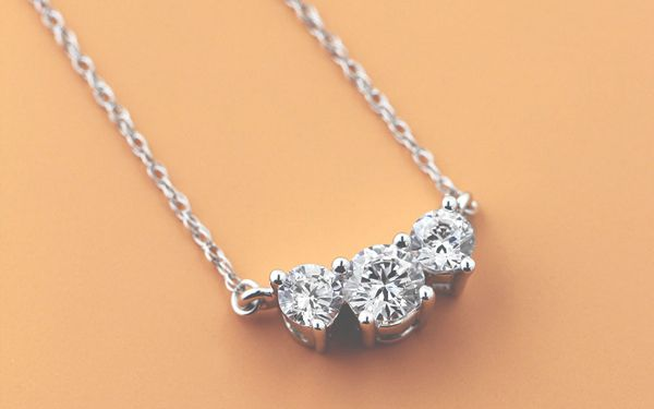 April's Birthstone - Lab Created Diamond