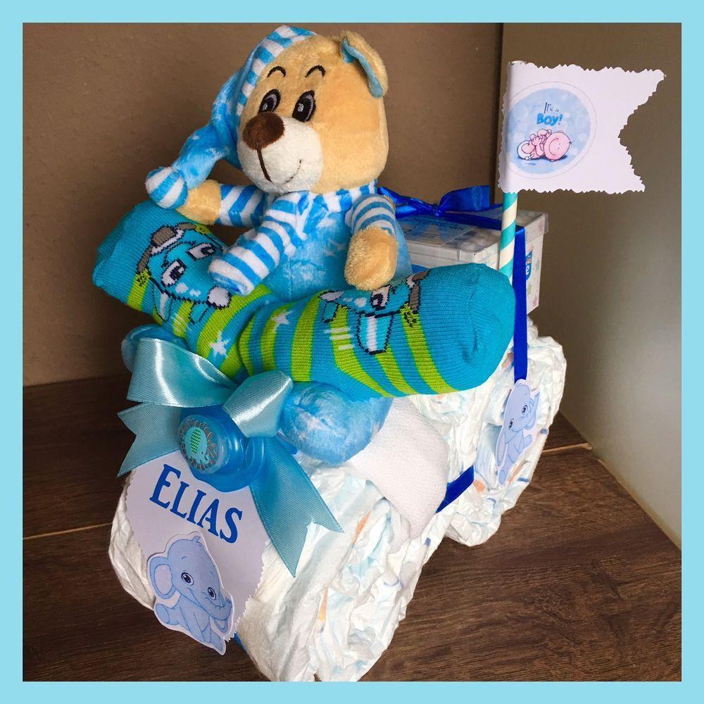 Windeltorte ❤️Bär mit Schnullerkette ❤️super Geschenk zur Geburt o Taufe