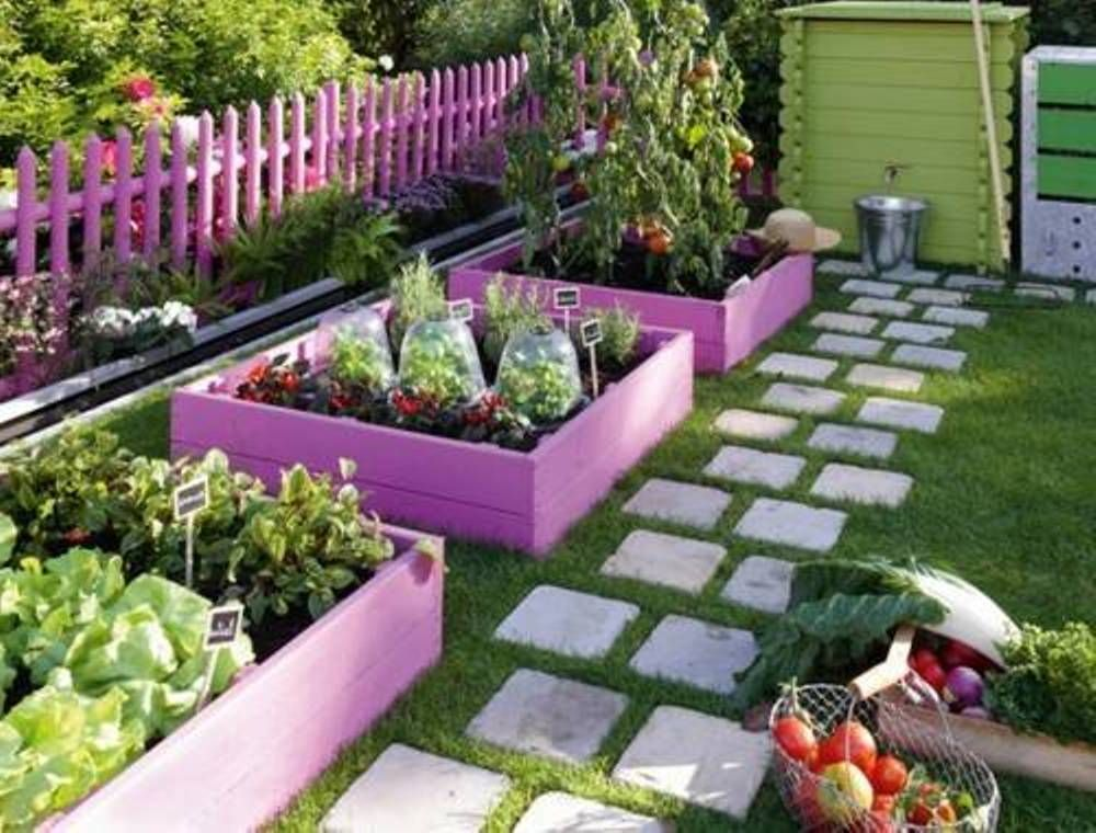 Update Your Raised Beds With Bright Paint Makes Your