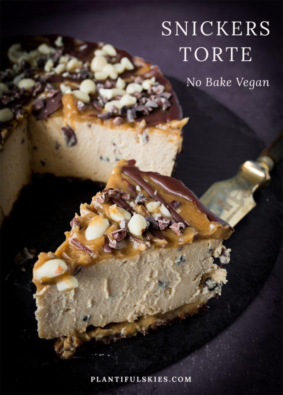 Snickers Käsekuchen, vegan, glutenfrei, fermentiert