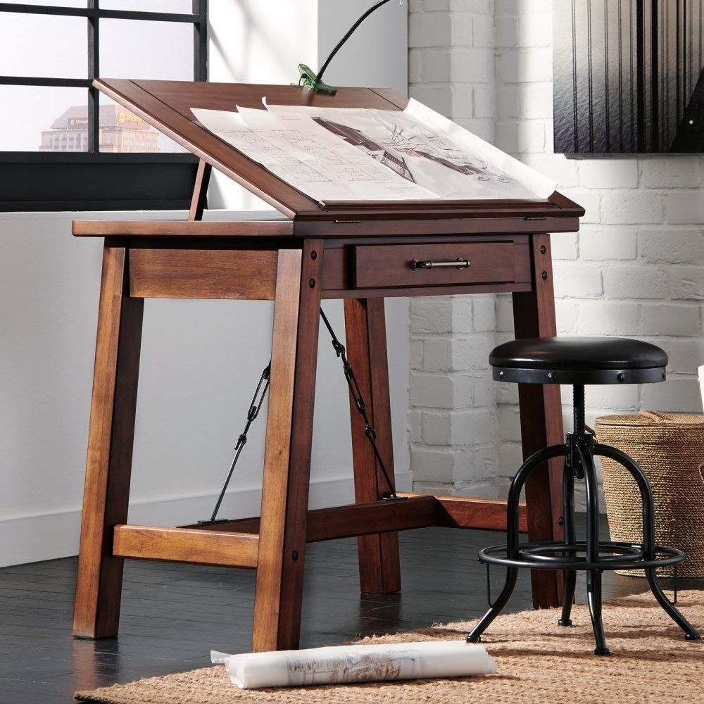 signature design by ashley shayneville counter height drafting desk drafting drawing tables at hayneedle