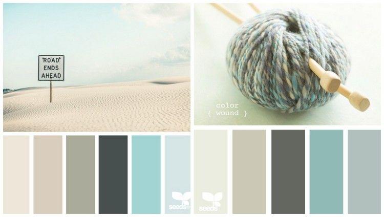 Pastellfarben - Mintgrün, Aqua, Creme und Grau #peinturesalontendance