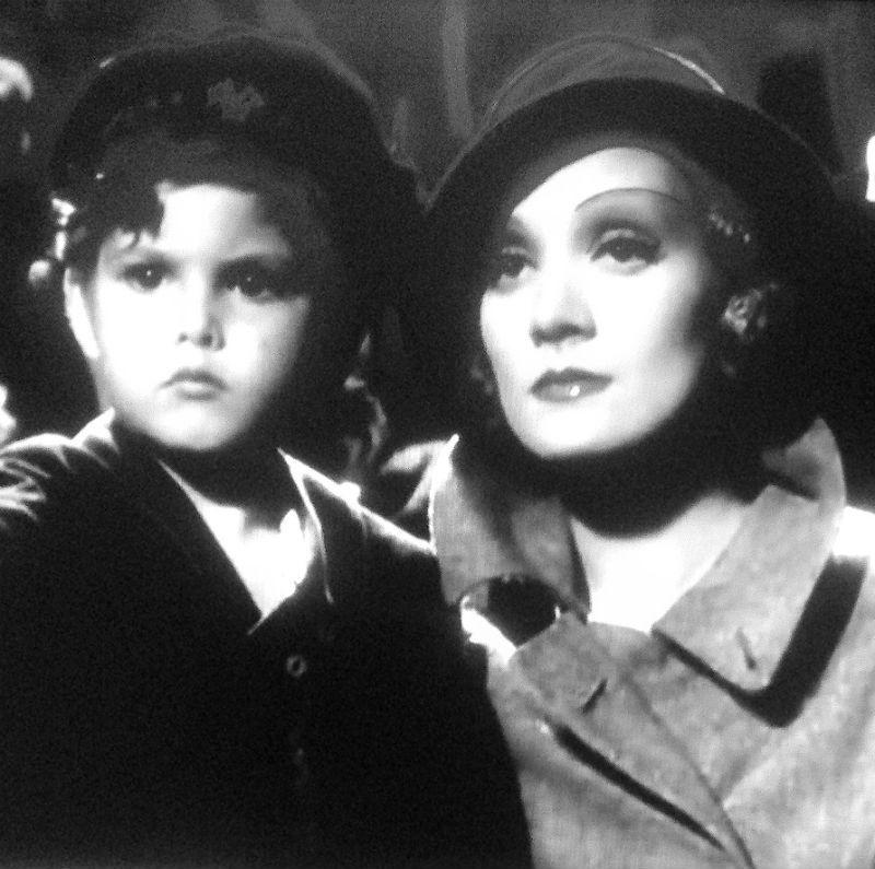 Marlene Dietrich and Dickie Moore c. 1932
