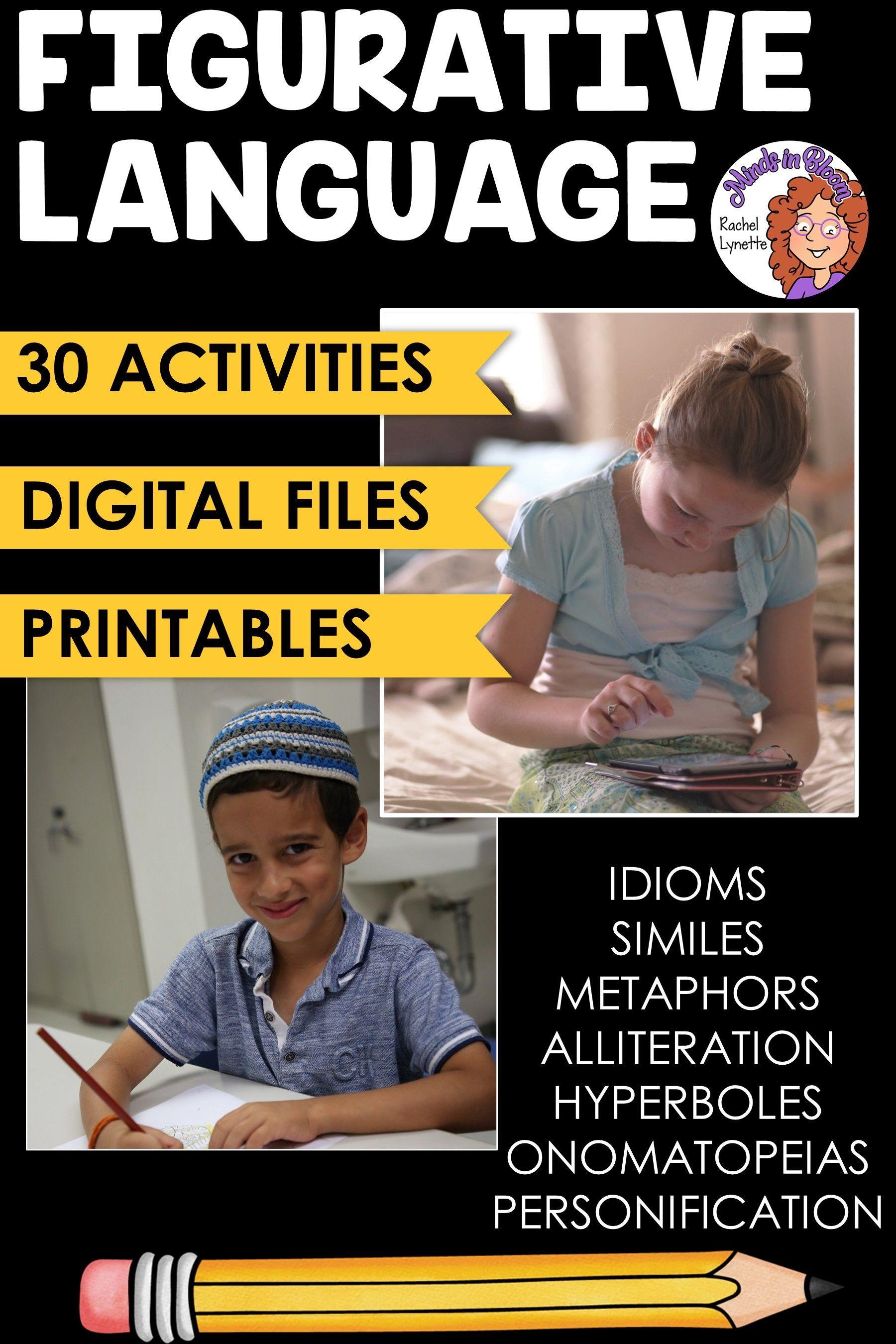 Figurative Language Activities For Upper Elementary Ela