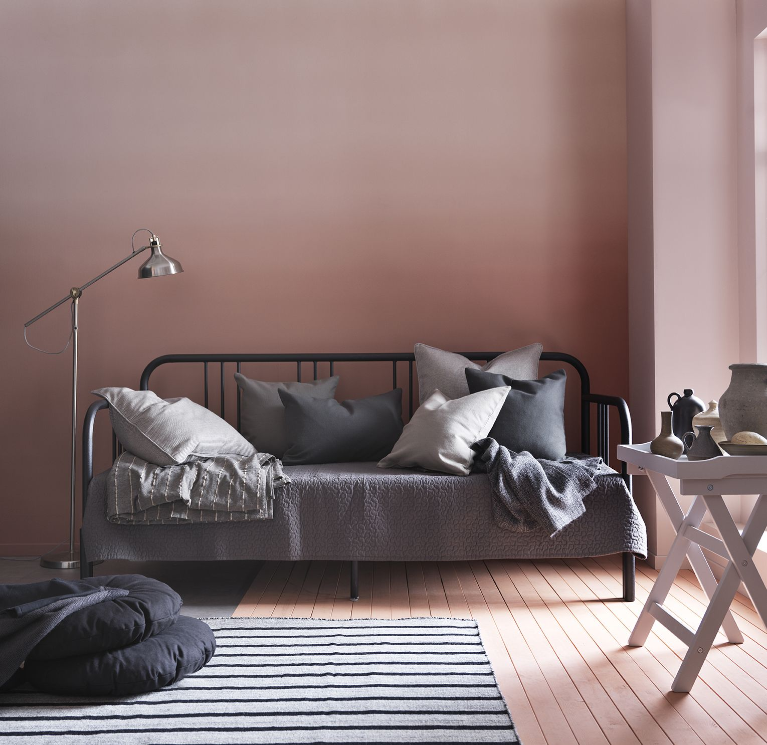 IKEA   FYRESDAL, Daybed With 2 Mattresses, Black/Minnesund Firm , Two  Functions In One   Sofa In The Day And Bed At Night.Get All Over Support  And Comfort ... Gallery