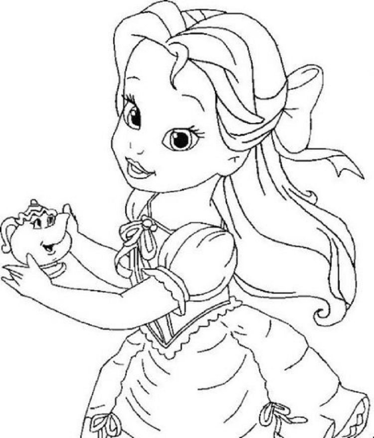 Baby Belle Coloring Pages Disney Princess Coloring Pages Cartoon Coloring Pages Belle Coloring Pages
