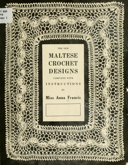 The new Maltese crochet designs. #vintage hairpin lace patterns ...