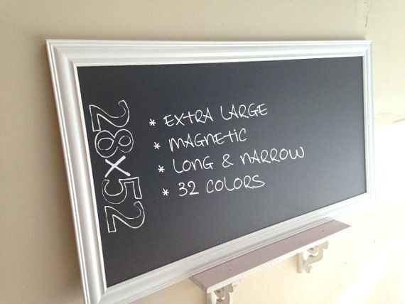 28x52 LARGE KITCHEN CHALKBOARD Framed Chalk Board Organizer By  ShugabeeLane, $219.00