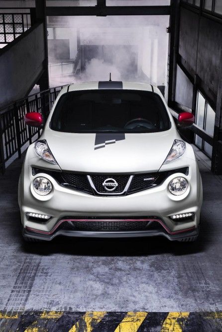 the white and red paint job gives the juke a sportier, more playful