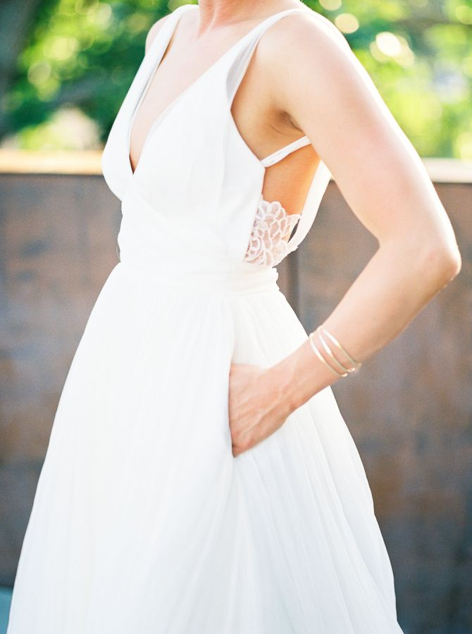 Peekaboo lace detail: http://www.stylemepretty.com/washington-weddings/seattle/2016/05/11/this-seattle-wedding-has-the-ultimate-cool-factor/ | Photography: Alexandra Grace Photo - http://alexgracephotography.com/