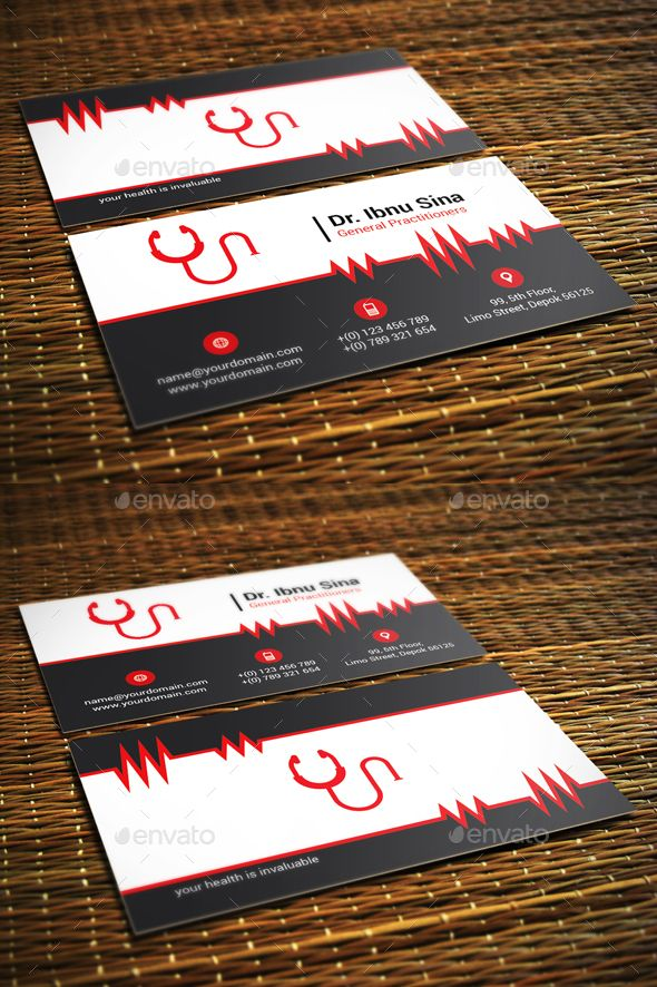 Medic Doctor Business Card Business cards, Business and Fonts - business card template for doctors