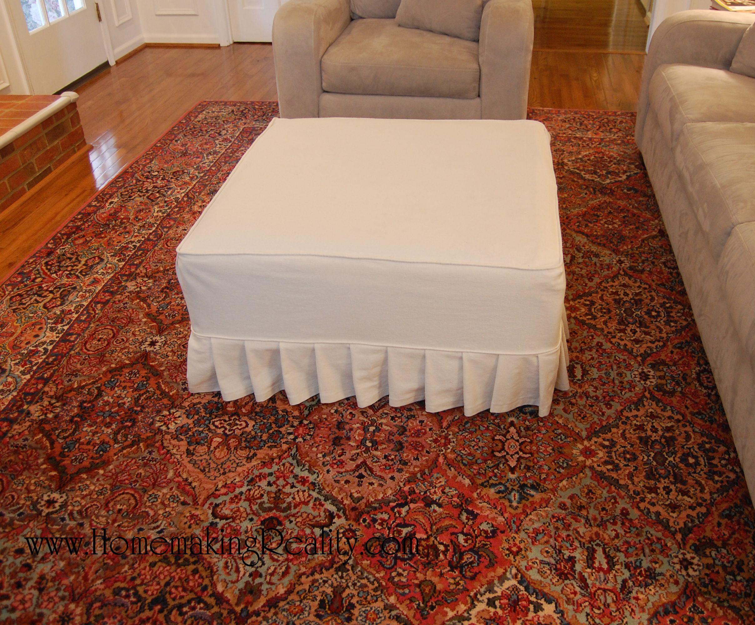 cover sofa with drop cloth