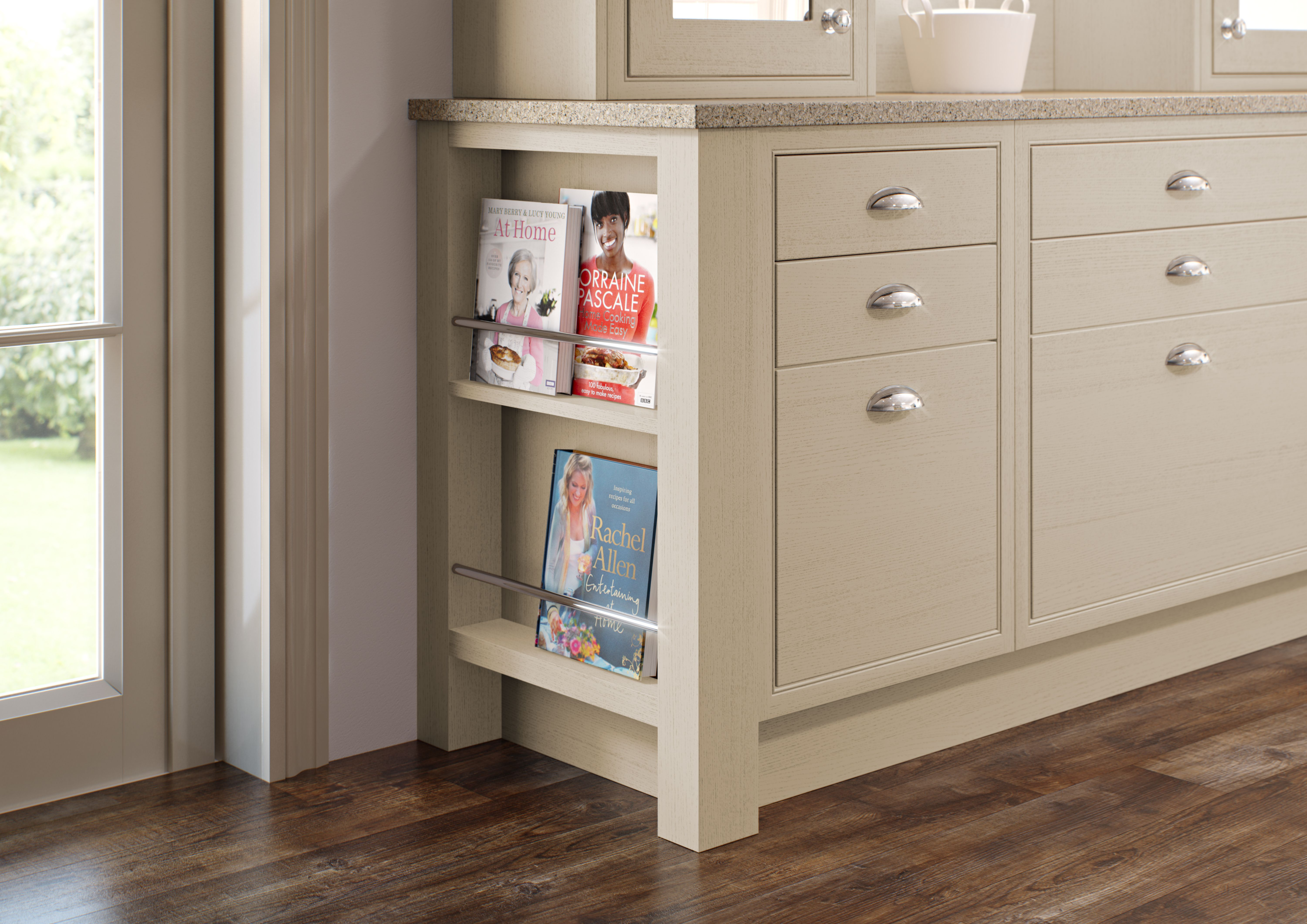 Feature book end unit Classic kitchens, Modern classic