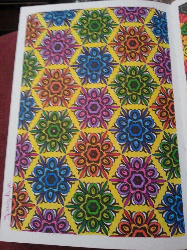 100 coloriages anti stress hachette mes coloriages anti stress pinterest - Coloriage art therapie ...