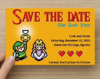 Completely customizable video game inspired wedding invitation and completely customizable video game inspired wedding invitation and reply cardrsvp printable files this stopboris Choice Image