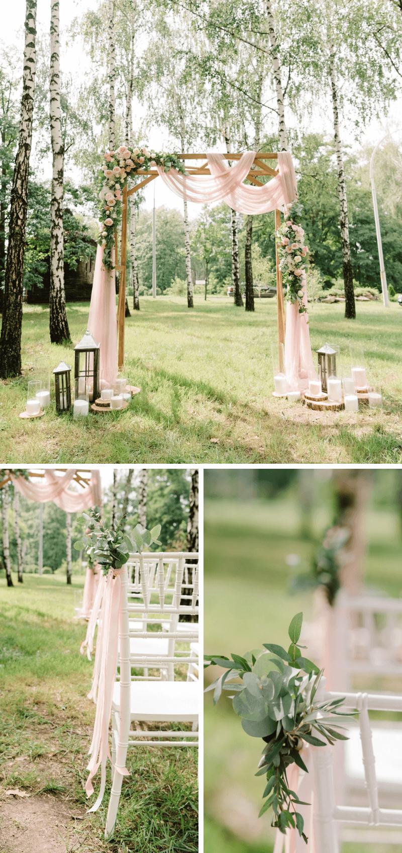 Photo of Trauung im Freien: 50 atemberaubende Hochzeits-Settings –  Hochzeit im Wald, Tra…