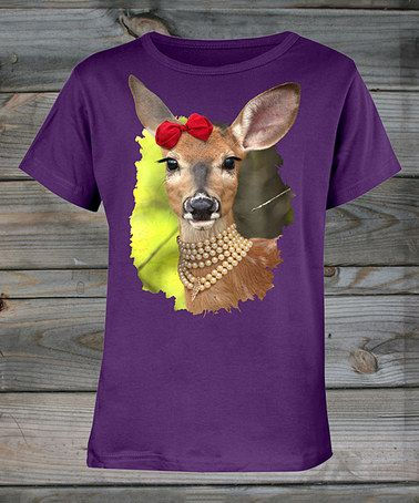 Plum Pretty Fawn Tee - Girls by Country Girl #zulily #zulilyfinds