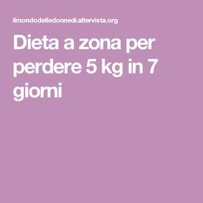 perdere 5 kg in 7 giorni dieta