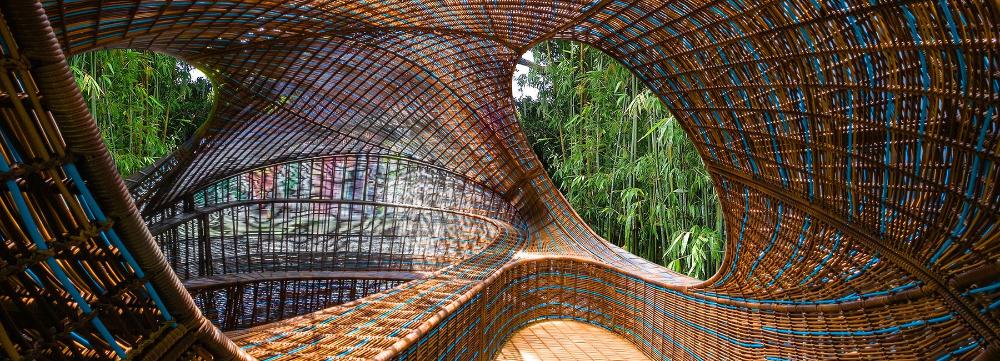 UNStudio creates woven 'ellipsicoon' pavilion for revolution precrafted