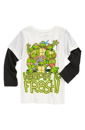 Mighty Fine 'TMNT Keepin' It Fresh' T-Shirt (SIZES 4-8 Boys) available at #Nordstrom