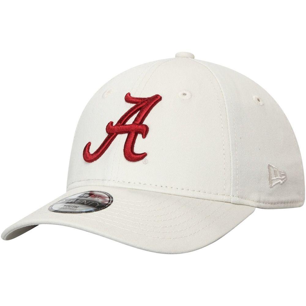 Youth New Era Cream Alabama Crimson Tide Core Classic Twill 9twenty Adjustable Hat Beige Over Alabama Crimson Tide Crimson Tide Hats