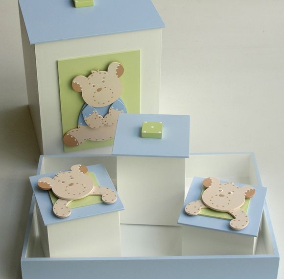 Kit Higiene Bebê Azul Ursinhos