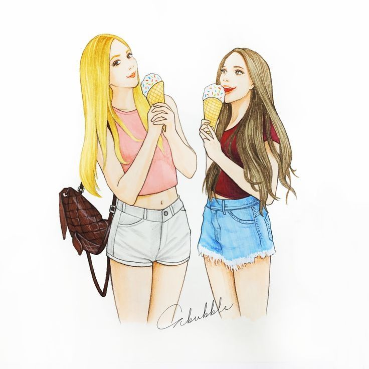 Pin by 🦋 on Draws | Bff drawings, Best friend drawings, Drawings of friends