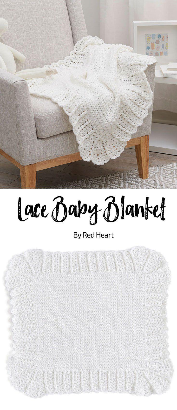 Lace Baby Blanket free crochet pattern in Bunches of Hugs yarn ...