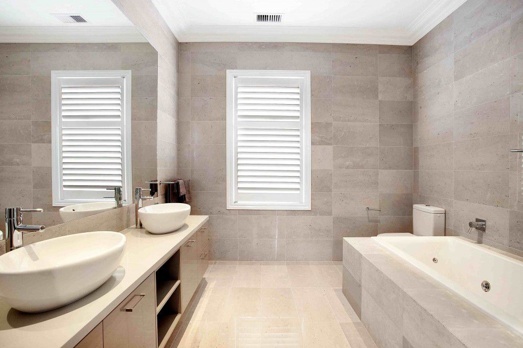 Plantation Shutters are great for adding stylish privacy to bathroom ...